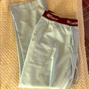 Baby Blue Greys Anatomy Scrub Pants